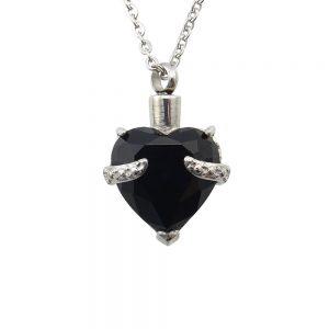Ashanger rvs hart glas zwart