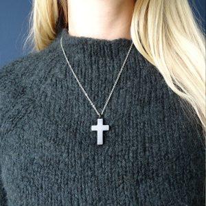 Ashanger rvs kruis