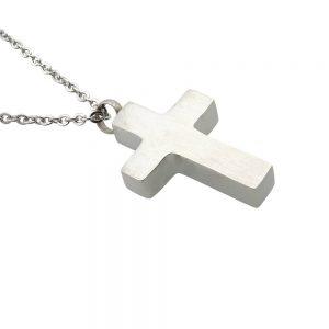 Ashanger rvs kruis plat zij