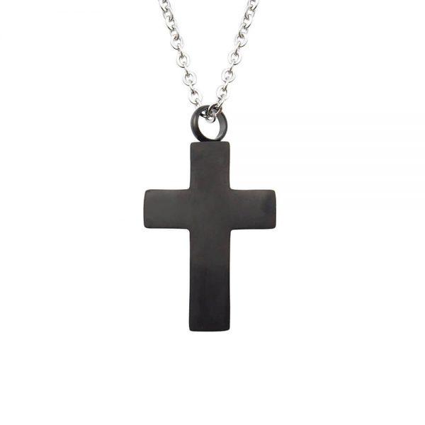 Ashanger rvs kruis zwart