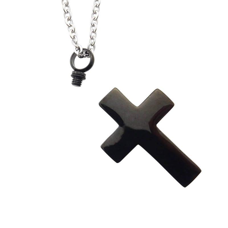 Ashanger rvs kruis zwart open