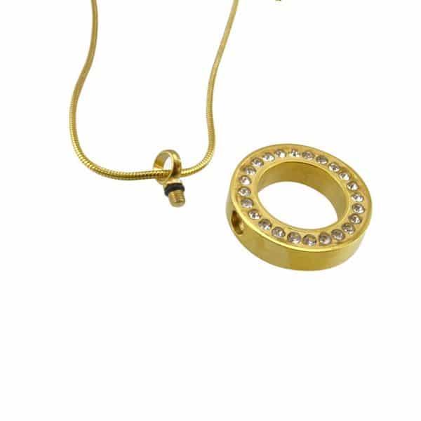Ashanger cirkel goud strass rond open