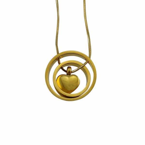 Ashanger goud hart circle