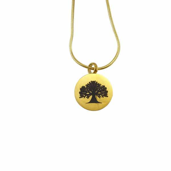 Ashanger goud rond tree of life