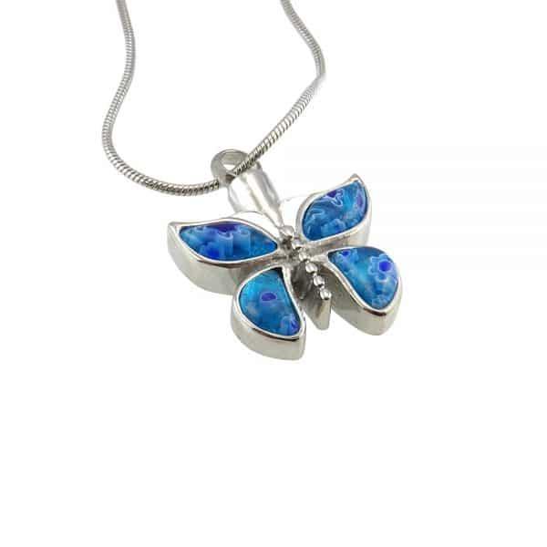 Ashanger vlinder blauw zij