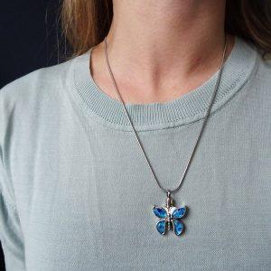 ashanger-rvs-zilver-blauw-vlinder-dames