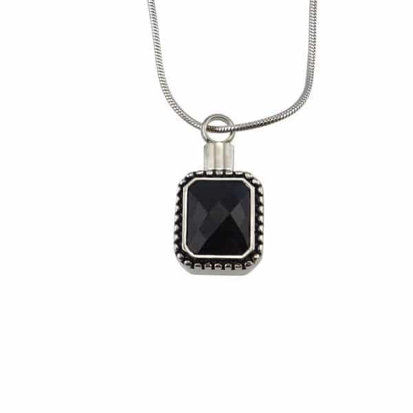 Ashanger rvs zwarte steen