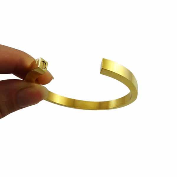 as armband circle open goud sfeer