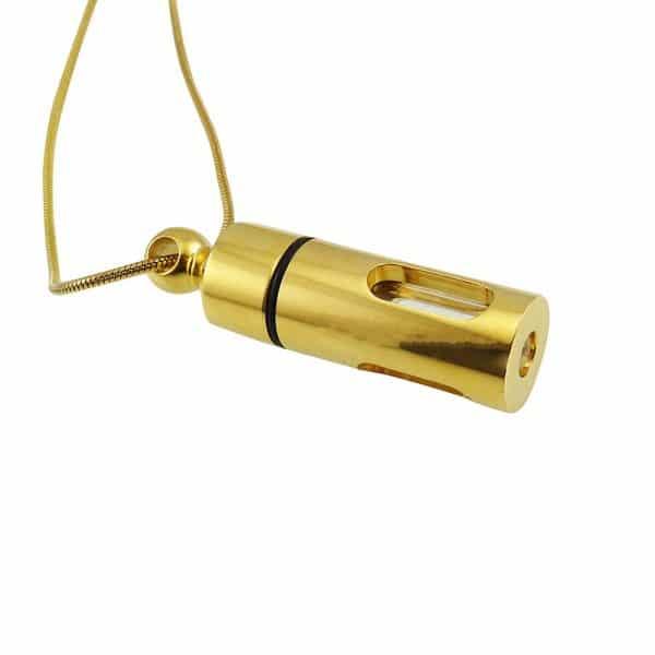 Ashanger rvs buis goud as zichtbaar glas