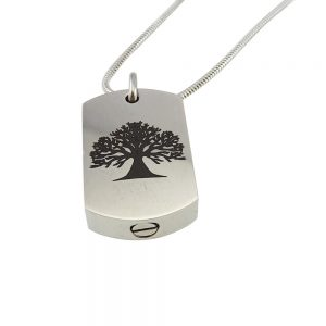 Ashanger rvs plaat tree of life zij