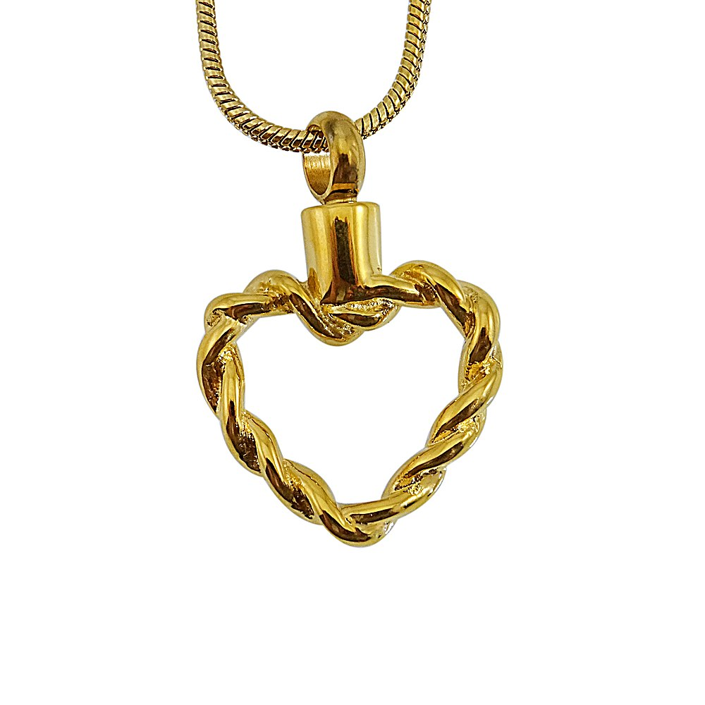 Ashanger hart gedraaid goud