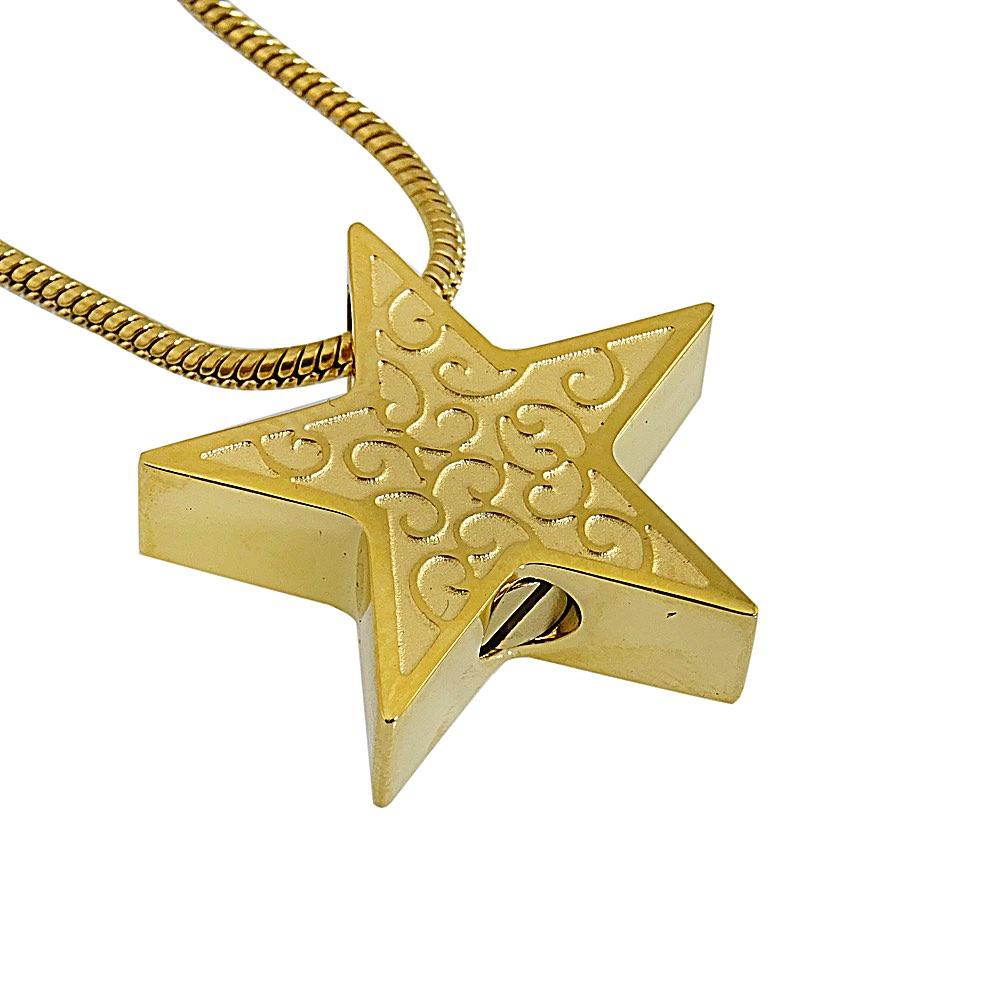 Ashanger ster goud krul zij