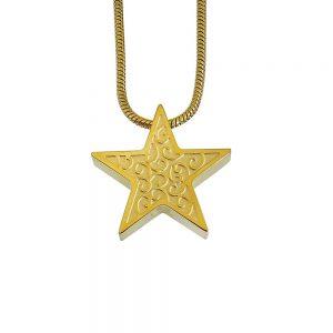 Ashanger ster goud krul versiering