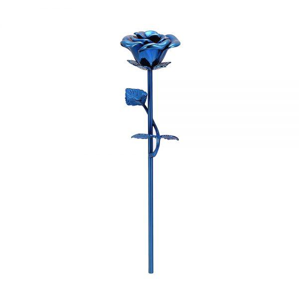 Mini urn bloem roos blauw