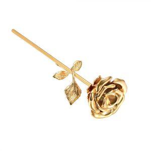 Mini urn bloem roos goud verguld zij