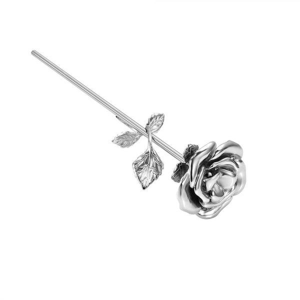 Mini urn bloem roos rvs zij