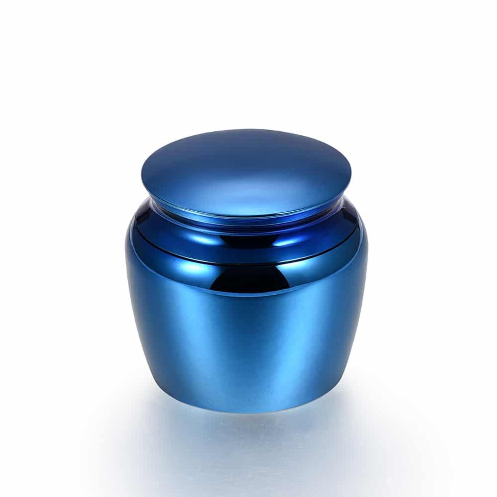 Mini urn rvs klassiek klein blauw