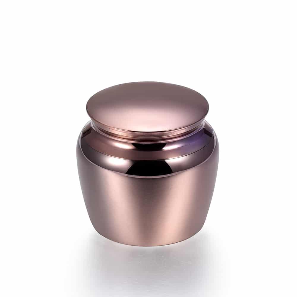 Mini urn rvs klassiek klein paars