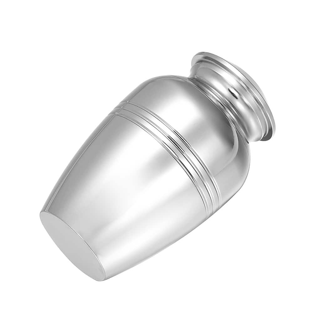Mini urn rvs met kaars zij