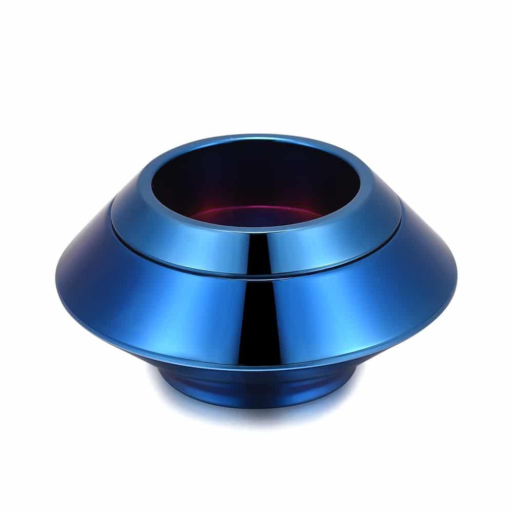 Mini urn rvs waxinelichthouder blauw