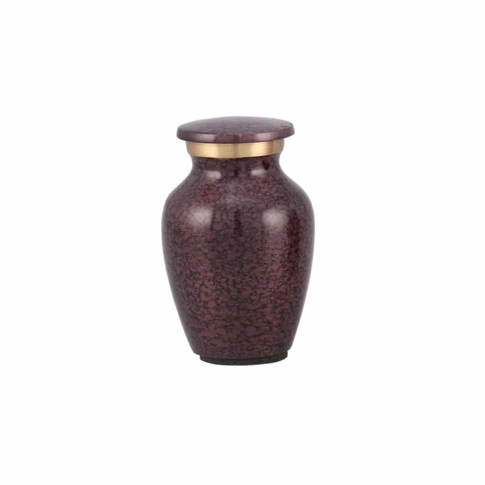 Mini urn messing paars krakelee motief
