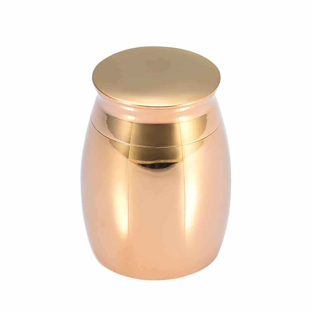 Mini urn rvs goud design