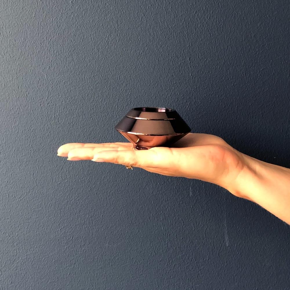 Mini urn rvs waxinelichthouder lavendel hand