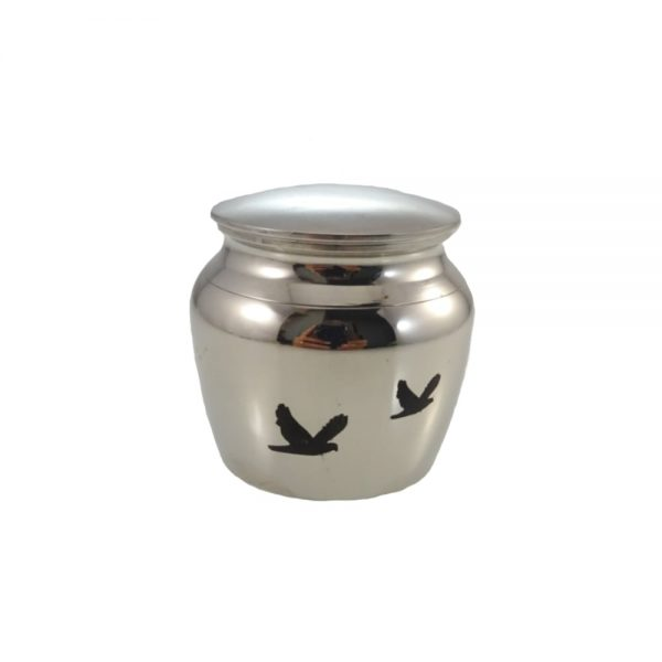 Mini urn rvs klassiek klein vogels
