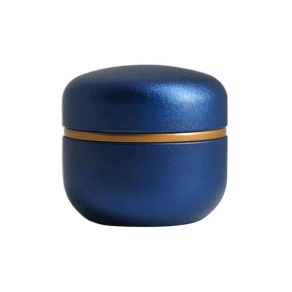 Mini urn aluminium modern blauw
