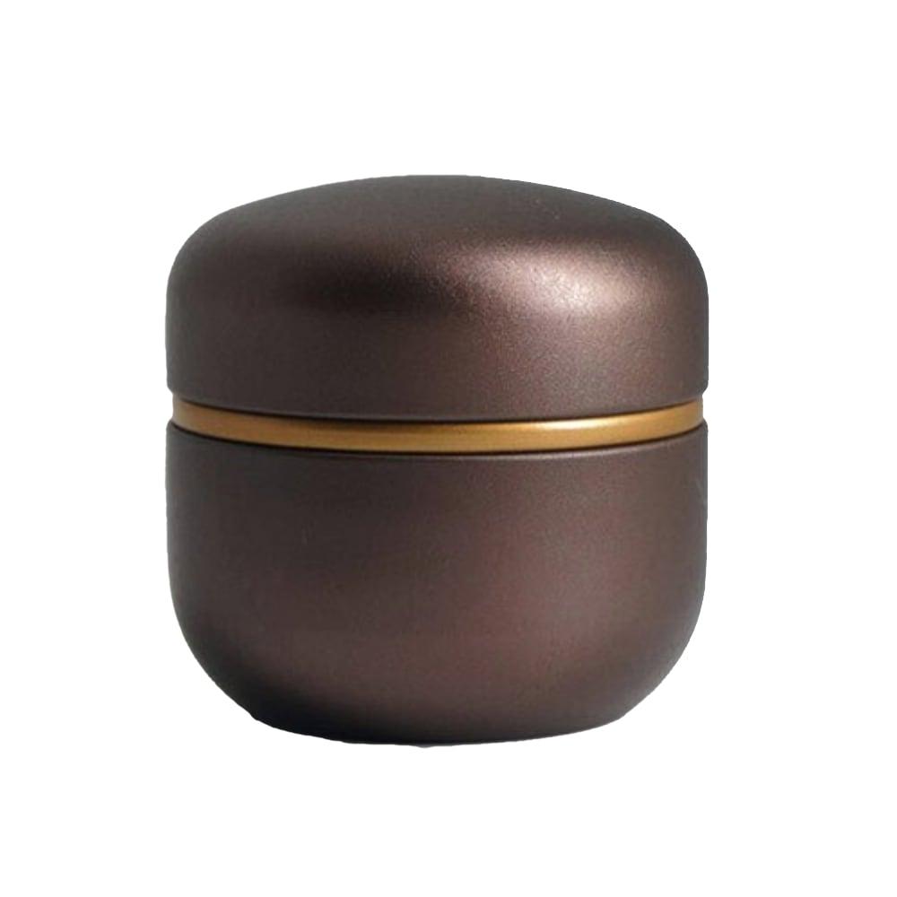 Mini urn aluminium modern bruin