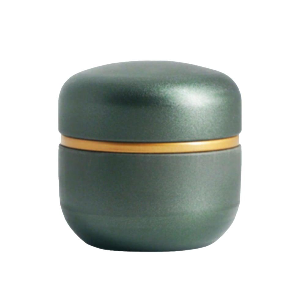 Mini urn aluminium modern groen