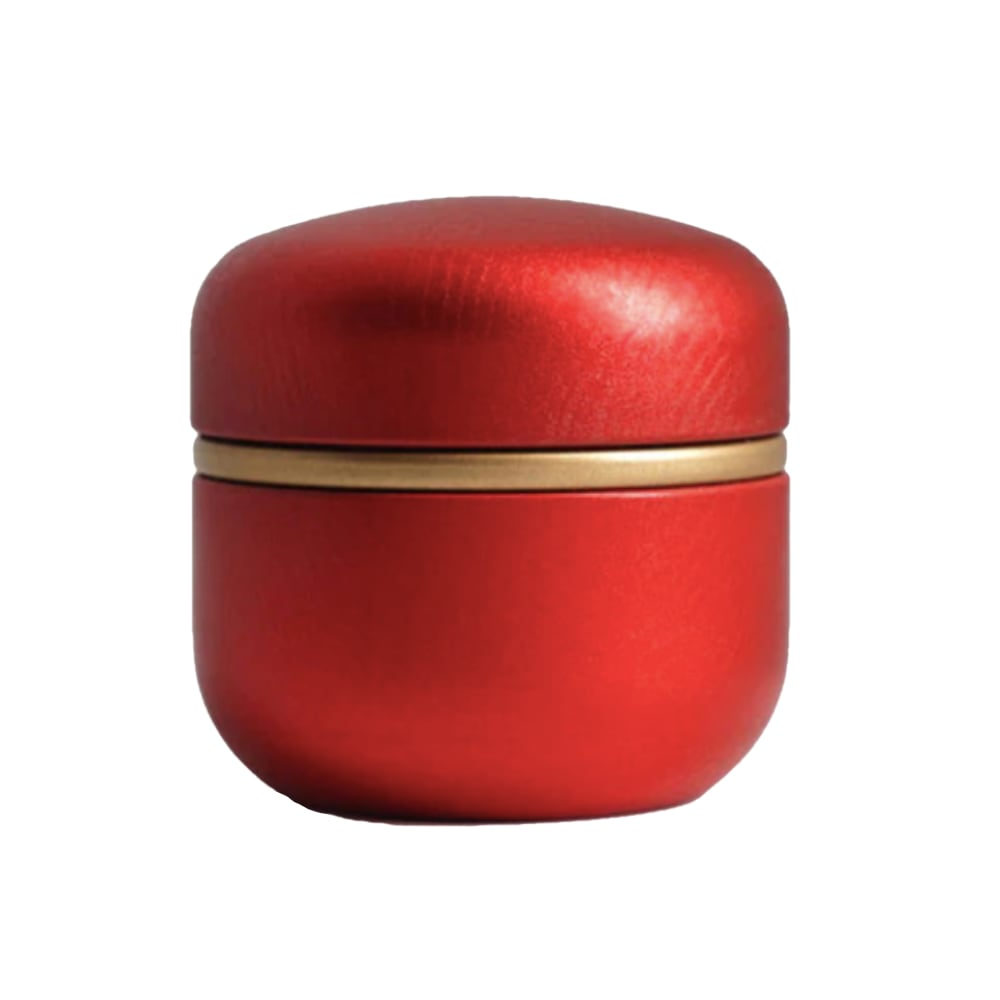 Mini urn aluminium modern rood