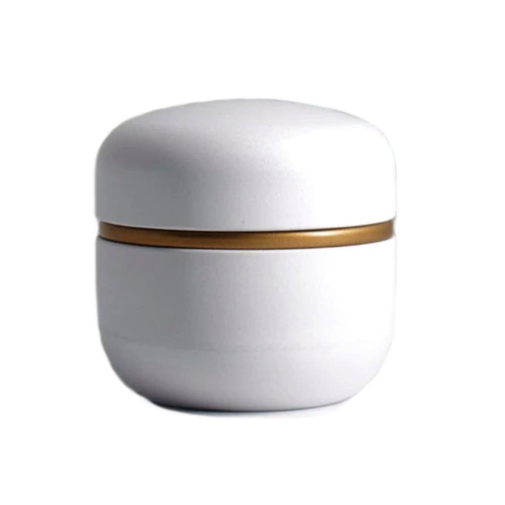 Mini urn aluminium modern wit